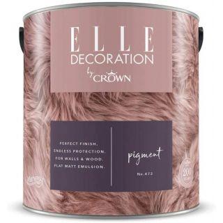 ELLE Decoration by CROWN Flat MATT Emulsion Paint - Pigment No 472 2.5L