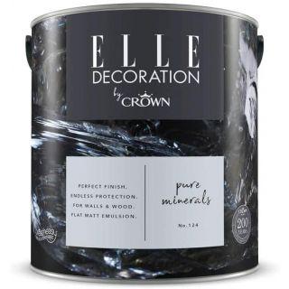 ELLE Decoration by CROWN Flat MATT Emulsion Paint - Pure Minerals No 124 2.5L