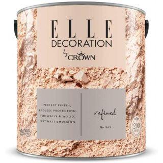 ELLE Decoration by CROWN Flat MATT Emulsion Paint - Refined No 565 2.5L
