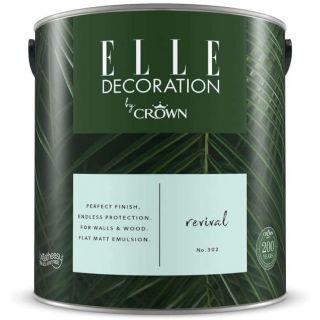 ELLE Decoration by CROWN Flat MATT Emulsion Paint - Revival No 302 2.5L