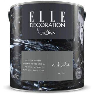 ELLE Decoration by CROWN Flat MATT Emulsion Paint - Rock Solid No 173 2.5L