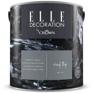 ELLE Decoration by CROWN Flat MATT Emulsion Paint - Rooftop No 181 2.5L