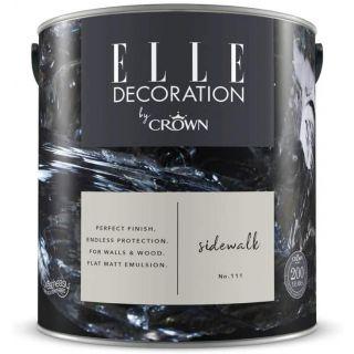 ELLE Decoration by CROWN Flat MATT Emulsion Paint - Sidewalk No 111 2.5L