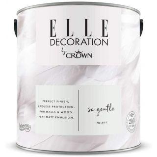 ELLE Decoration by CROWN Flat MATT Emulsion Paint - So Gentle No 611 2.5L