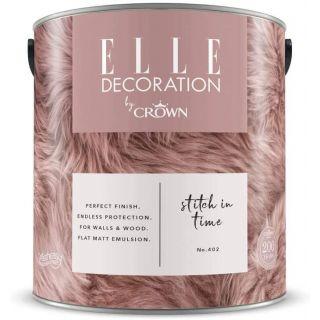ELLE Decoration by CROWN Flat MATT Emulsion Paint - Stitch in Time No 402 2.5L