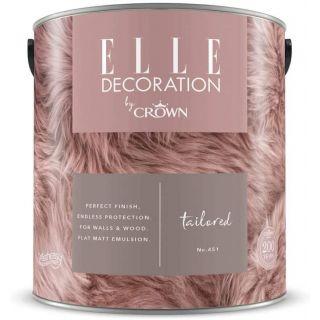 ELLE Decoration by CROWN Flat MATT Emulsion Paint - Tailored No 451 2.5L
