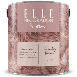 ELLE Decoration by CROWN Flat MATT Emulsion Paint - Tapestry Thread No 418 2.5L
