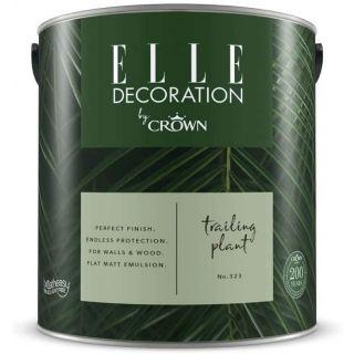 ELLE Decoration by CROWN Flat MATT Emulsion Paint - Trailing Plant No 323 2.5L