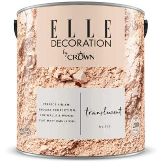 ELLE Decoration by CROWN Flat MATT Emulsion Paint - Translucent No 502 2.5L