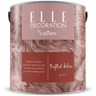 ELLE Decoration by CROWN Flat MATT Emulsion Paint - Tufted Kilim 492 2.5L
