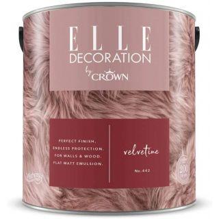 ELLE Decoration by CROWN Flat MATT Emulsion Paint - Velvetine No 442 2.5L
