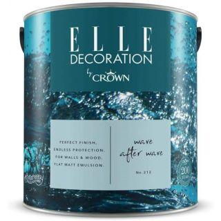 ELLE Decoration by CROWN Flat MATT Emulsion Paint - Wave After Wave No 212 2.5L