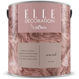 ELLE Decoration by CROWN Flat MATT Emulsion Paint - Weaved No 438 2.5L