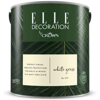 ELLE Decoration by CROWN Flat MATT Emulsion Paint - White Grass No 305 2.5L