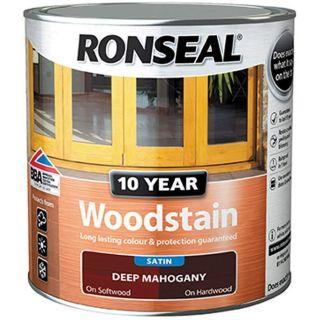 RONSEAL 10 Year Woodstain Deep Mahogany 750ml