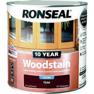 Ronseal 10 Year Woodstain Teak 2.5L