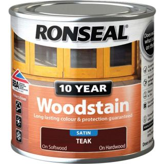 Ronseal 10 Year Woodstain Teak 250ml
