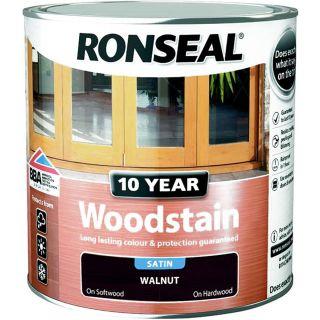 Ronseal 10 Year Woodstain Walnut 2.5L
