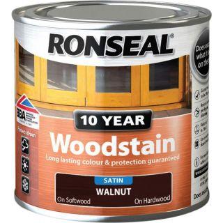 Ronseal 10 Year Woodstain Walnut 250ml