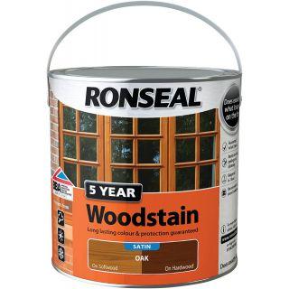 Ronseal 5 Year Woodstain 2.5L Oak