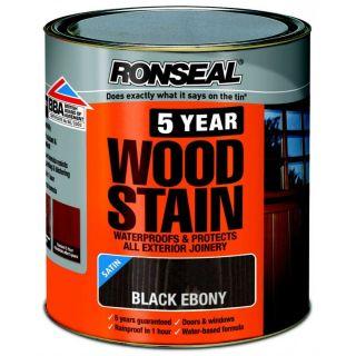 Ronseal 5 Year Woodstain Black Ebony 2.5L