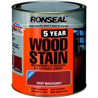 Ronseal 5 Year Woodstain Deep Mahogany 750ml