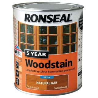 Ronseal 5 Year Woodstain Natural Oak 750ml