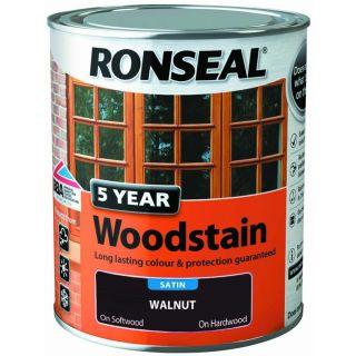 Ronseal 5 Year Woodstain Walnut 750ml