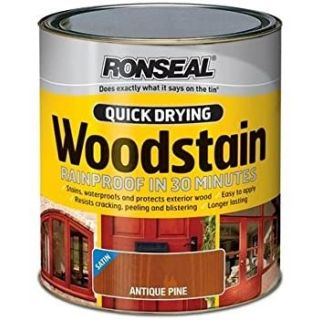 Ronseal Quick Drying Woodstain Satin Antique Pine 250ml
