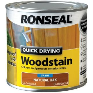 Ronseal Quick Drying Woodstain Satin Natural Oak 250ml