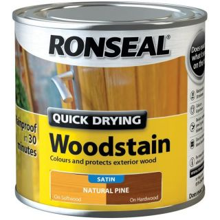 Ronseal Quick Drying Woodstain Satin Natural Pine 250ml