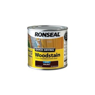 Ronseal Quick Drying Woodstain Satin Walnut 250ml