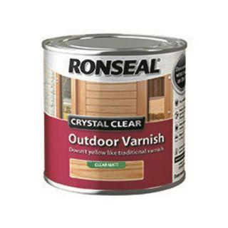 Ronseal Crystal Outdoor Matt Finish Varnish - clear 250 ml