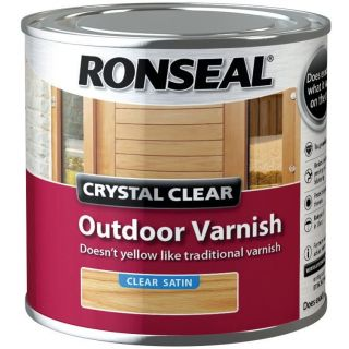 Ronseal Crystal Outdoor Satin Finish Varnish - clear 250 ml