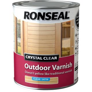 Ronseal Crystal Outdoor Satin Finish Varnish - clear 750 ml
