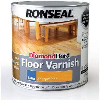 Ronseal Diamond Hard Floor Varnish - Antique Pine Satin 2.5L