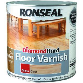 Ronseal Diamond Hard Floor Varnish Clear Gloss 2.5L