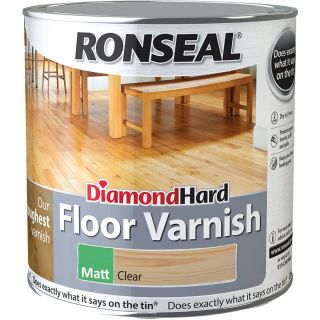 Ronseal Diamond Hard Floor Varnish Clear Matt 2.5L