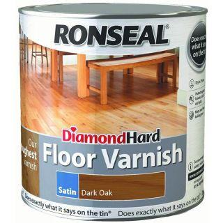 Ronseal Diamond Hard Floor Varnish Dark Oak Satin 2.5L