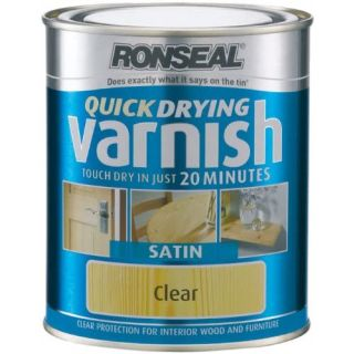 Ronseal Quick Dry Varnish Clear - Satin 750ml