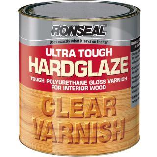 Ronseal Ultra Tough Hardglaze Internal Clear Gloss Varnish 750ml