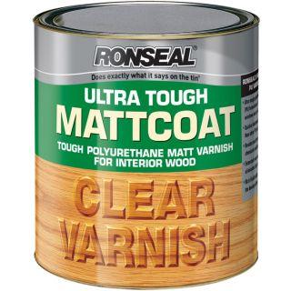 Ronseal 750ml Ultra Tough Internal Clear Mattcoat Varnish