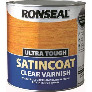 Ronseal Ultra Tough Internal Clear Satincoat Varnish 2.5L