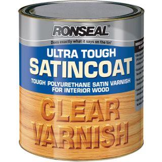 Ronseal Ultra Tough Internal Clear Satincoat Varnish 750ml