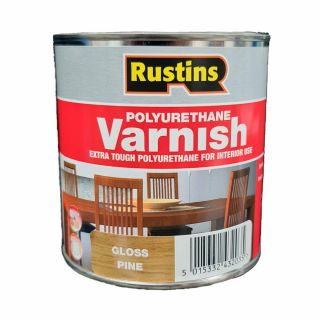 Rustins Gloss Varnish Polyurethane For Interior Wood Works Interior Clear/colour Pine 250ml
