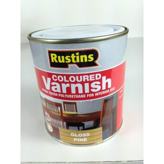 Rustins Gloss Varnish Polyurethane For Interior Wood Works Interior Clear/colour Teak 250ml