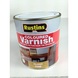 Rustins Gloss Varnish Polyurethane For Interior Wood Works Interior Clear/colour Teak 500ml
