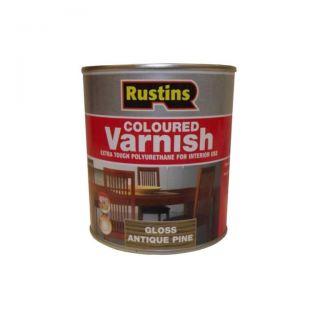 Rustins Poly Varnish - Gloss Antique Pine 250ml