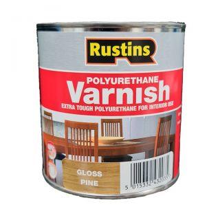 Rustins Poly Varnish - Gloss Pine 500ml