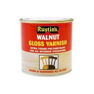 Rustins Poly Varnish - Gloss Walnut 250ml